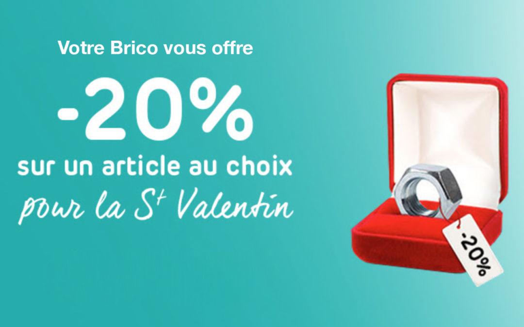 Nous gâtons nos clients pour la St Valentin chez Brico Burenville