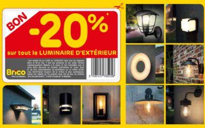 bon – 20 % sur tout le luminaire extérieur