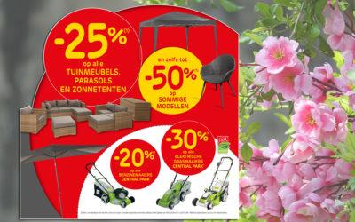 Geniet van -25% op alle tuinmeubelen