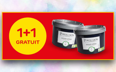 Peinture latex Perfection 'Mur & Plafond Ultra Couvrant' blanc mat 10L